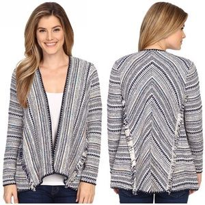 Lucky brand pottery woven cardigan